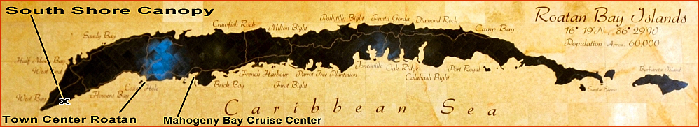 Mahogany Bay Cruise Center Town Center Port Roatan Map